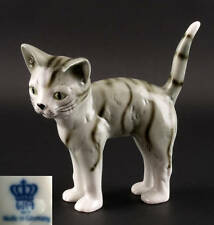 Figurine Porcelain Cat Gray Mackerel Tabby Wagner&Apel H12Cm a2-42115