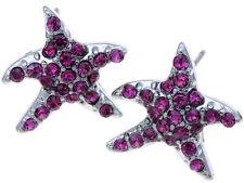 Fushia Crystal Star Earrings