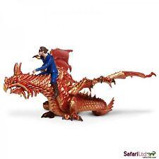 Thunder Dragon with Rider Drake Museum Quality Safari PVC Figurine S10121