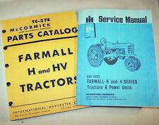 FARMALL H HV TRACTOR SERVICE + PARTS MANUALS SHOP REPAIR INTERNATIONAL McCORMICK