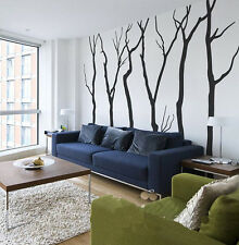 Tall 245CM Removable Six Large Tree Nature Vinyl Wall Decal Art Sticker X789