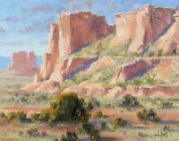 "TOM HAAS (b.1952) 'Tribal Lands' oil 11""x14"" Monument Valley Arizona Utah border"