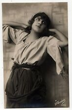VINTAGE THEATRE RPPC Real Photo Postcard ACTRESS Drama THEATER Play GERMANY