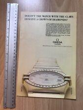 Omega Constellation Diamonds 1983 Advertisement Pub Ad Werbung