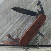 Victorinox Spartan Walnut Hardwood Swiss Army Knife Good Used Condition Camp ECD