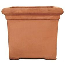 28cm Terracini Baytree Square/Tub/Box/Cube/Garden Planter/Terracotta Pot