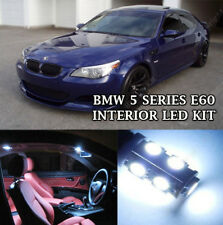 BMW 5 SERIES E60 FULL XENON PRIME WHITE INTERIOR LED LIGHT BULBS ERROR FREE SET