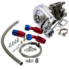 T3 T4 T3/T4 TO4E Turbo Turbocharger for 4 / 6 CYL + Oil RETURN / Feed Line Kit