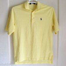 POLO GOLF Classic Golf Shirt Yellow Turnberry Open 2009 100% Pima Cotton Size S