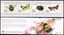 Portugal Azores 345a-348ab booklet,MNH.Michel 365C-368C MH 4. Insects 1984