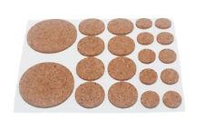 NEUF - Lot de 10 variés liège dosettes adhésif 20 par feuille 2mm d'epaisseur