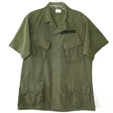 VINTAGE 1968 US AIR FORCE VIETNAM JUNGLE JACKET SHORT SLEEVE MEDIUM SHORT SLANT