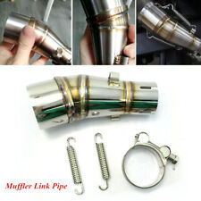 Motorcycle Exhaust Middle Pipe Link Stainless Muffler Mid Section Adapter Z250