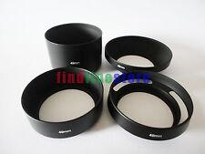 49mm standard telephoto wide angle vented curved metal lens hood kit set 4pcs