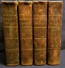 Timothy Dwight Travels in New England & New York 1821-1822 4 Vols w/Fold-out Map