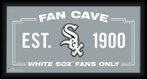 """Chicago White Sox Framed 10"""" x 20"""" Fan Cave Collage"""