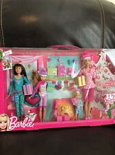 NRFB BARBIE SKIPPER STACIE CHELSEA - A PERFECT CHRISTMAS 2011 TARGET EXCLUSIVE