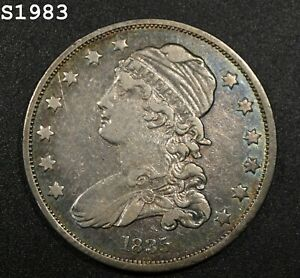 """1835 Capped Bust Quarter """"VF/XF"""" *Free S/H After 1st Item*"""