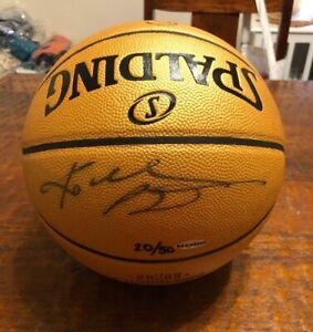 Kobe Bryant Signed 2009 NBA Champions Gold Basketball UDA Upper Deck LE 20/50