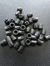 Micro K'Nex Black Rod Caps x 25  DW652 Disinfected & Cleaned