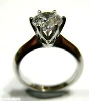 9ct 375 Solid White Gold Claw Set Engagement Ring Size J - Free express post