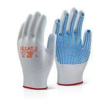 50 x Click 2000 TBD Tronix Blue Polka Dot Palm Work Safety Gloves Size 9/L