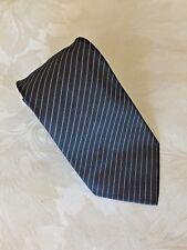 Ralph Lauren Purple Label  Tie - Color Dark Blue w/ Silver Stripe Made in Italy