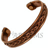 COPPER CUFF MAGNETIC BANGLE MENS WOMENS ARTHRITIS PAIN RELIEF THERAPY HEALING