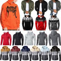 Men Winter Hoodie Hooded Sweatshirt Casual Sports Jumper Jacket Coat Top Outwear
