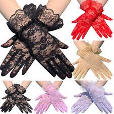 Dressy Lace Gloves Summer Full Finger Gloves Mittens Women Golves Wedding Gloves