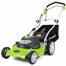 """GreenWorks 3-in-1 Electric Lawn Mower Machines Battery Powered 12 Amp 20"""" Corded"""