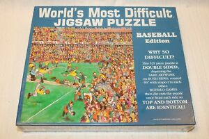 1994 Worlds Most Difficult Jigsaw Puzzle Baseball Edition 529 Pieces, New Sealed