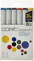 Copic Markers 6-Piece Sketch Set, Bold Primaries (SKST6-BOLD), (Package may v...