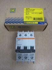 New Square D Merlin Gerin 60180 Multi 9 C60 20A 3P 240V Mini Circuit Breaker
