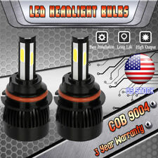 2x 9004 HB1 4-sides LED Headlight Bulbs High Low Beam For Ford Mustang 1990-1993