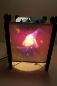 "Retro Magic Spinning Wizard Motion Lamp 8"" Lantern Night Light Castle Dragon"