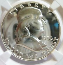 1956 Franklin Half Dollar NGC DCAM Ultra *Cameo Blazing W/Star* Cameo Proof 68*