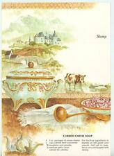 VINTAGE COW CHINTZ SOUP TUREEN SHRIMP RECIPE PRINT 1 SEWING SEAMSTRESS ROSE CARD
