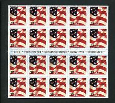 Scott #3635(Cf1) Postal Counterfeit Flag Complete Booklet *Scarce* Cat $400!