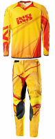 IXS Jersey & Pant Combo Adult Motocross Dirt Bike Gear MX ATV Yellow - Orange