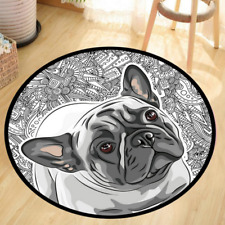 French Bull Dog Small Area Rug Size: 2' x 2'