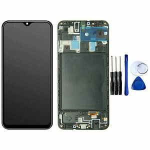 LCD Display Touch Screen Digitizer Frame Replacement For Samsung Galaxy A20 A205