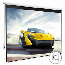 New listing 100'' 16:9 Home Movie Electric Projection Screen Matte White Pull Down Projector