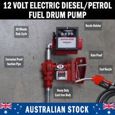 NEW 12V Gasoline Diesel Petrol Fuel Transfer Pump Flow Meter Fuel Auto Nozzle