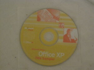 Microsoft Press Office XP Title Sampler cd disc only