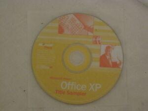Microsoft Press Office XP Title Sampler cd disc only