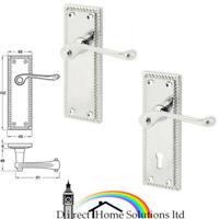 6544 Victorian Scroll Lock Lever Door Handle Chrome 44 x 170mm Sets of 1-15