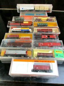 20 Güterwaggons, verschiedene Hersteller, Kohlewagen, Rungenwagen und viele mehr
