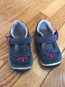 Stride Rite Teagan Navy Blue Sandals Mary Jane Shoes Size 6W