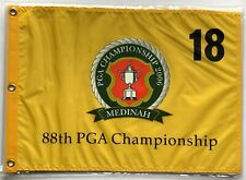 2006 pga championship flag medinah golf tiger woods wins yellow silkscreen